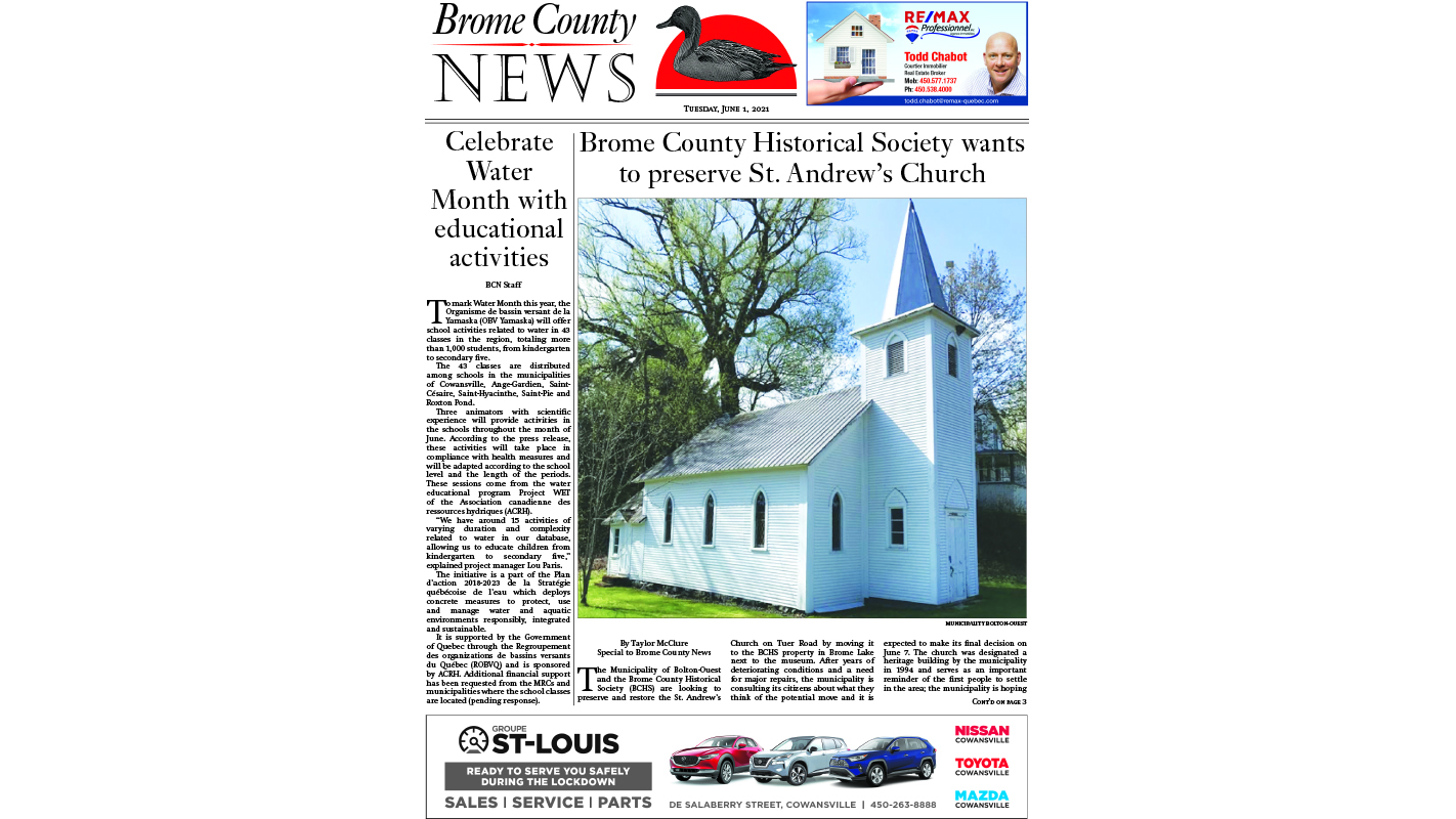 Brome County News – June 1, 2021 edition