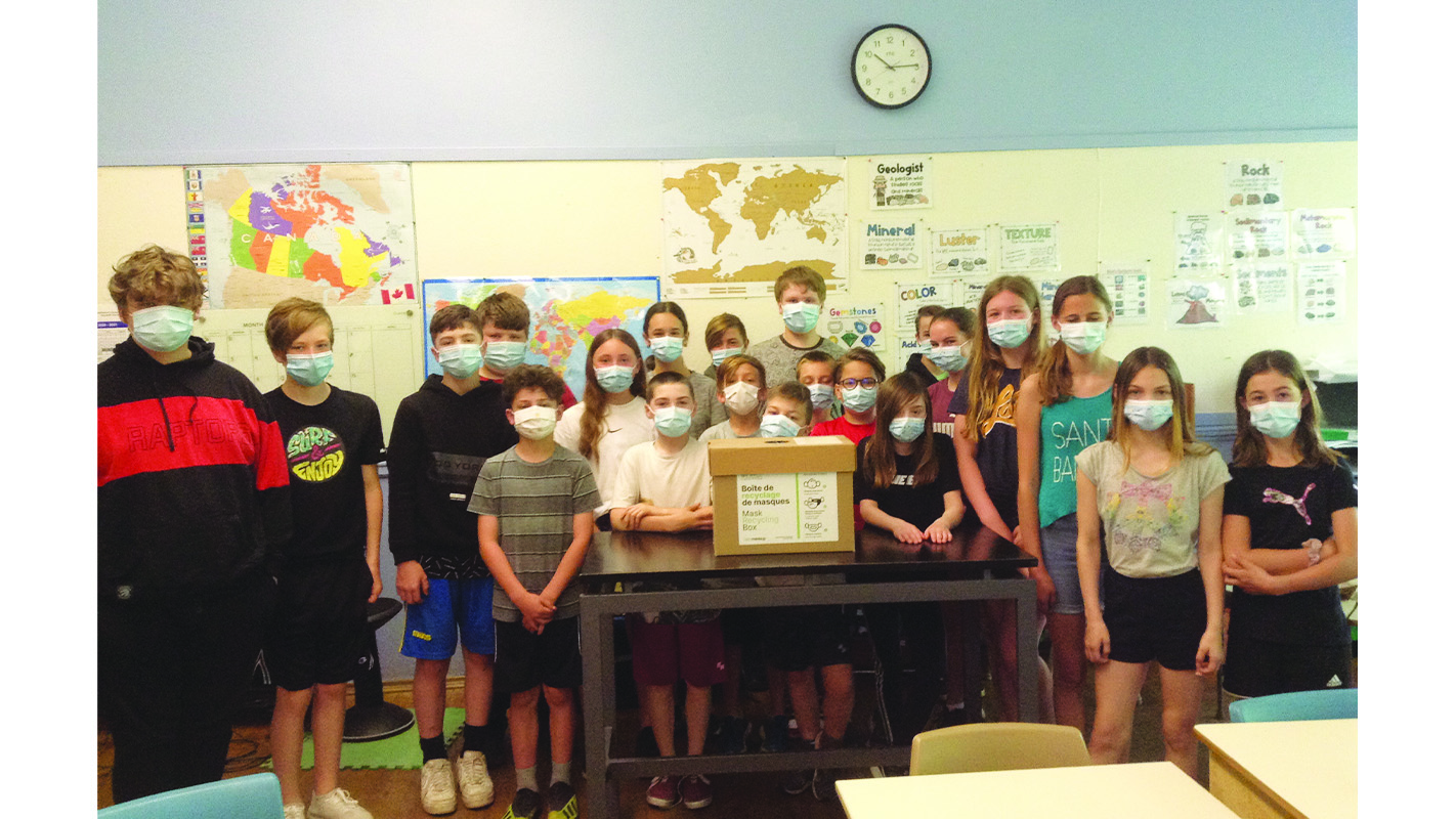 St. Francis students celebrate mask recycling success