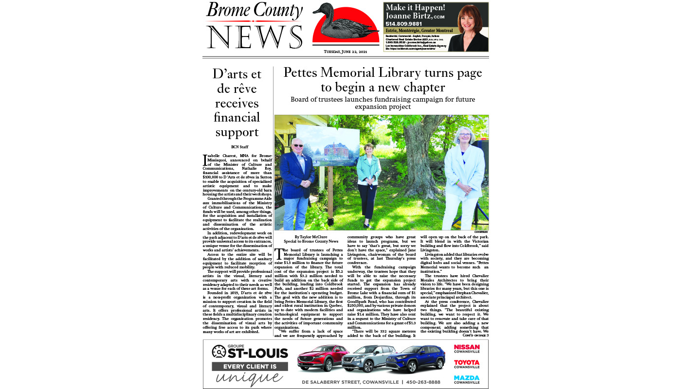 Brome County News – June 22, 2021 edition