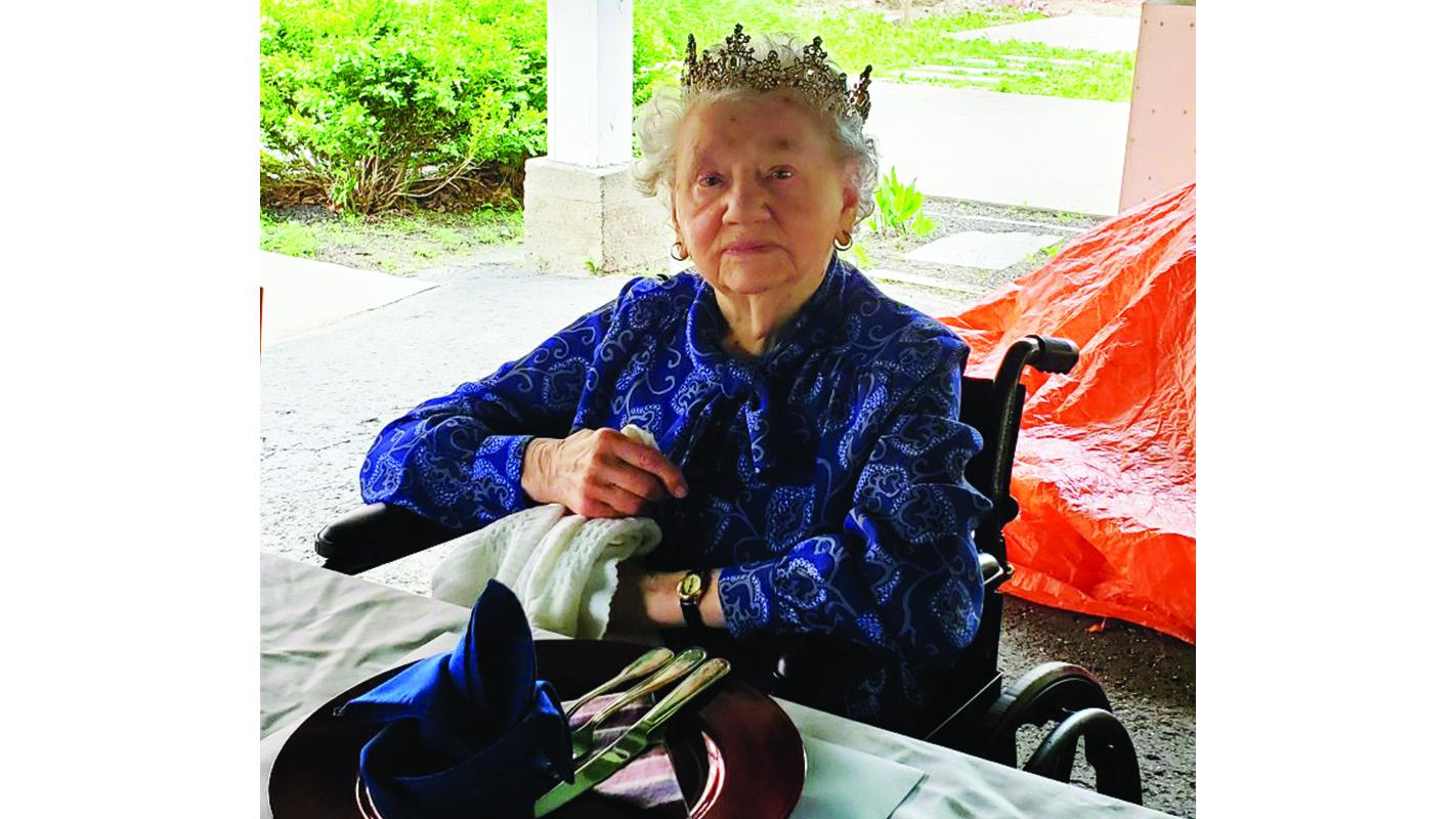 Irene Brown looking regal at 105
