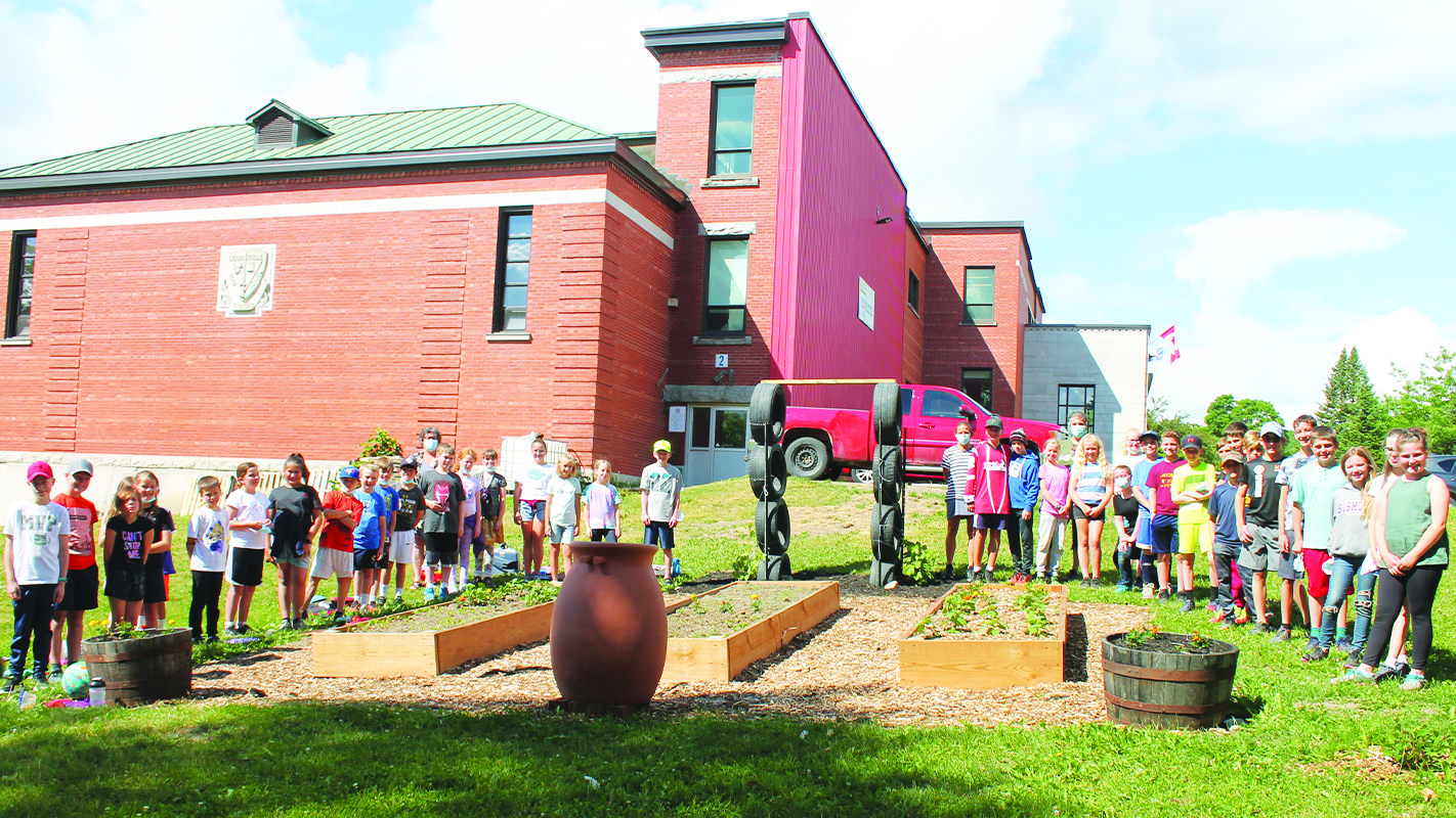 Lennoxville Elementary students getting into gardening