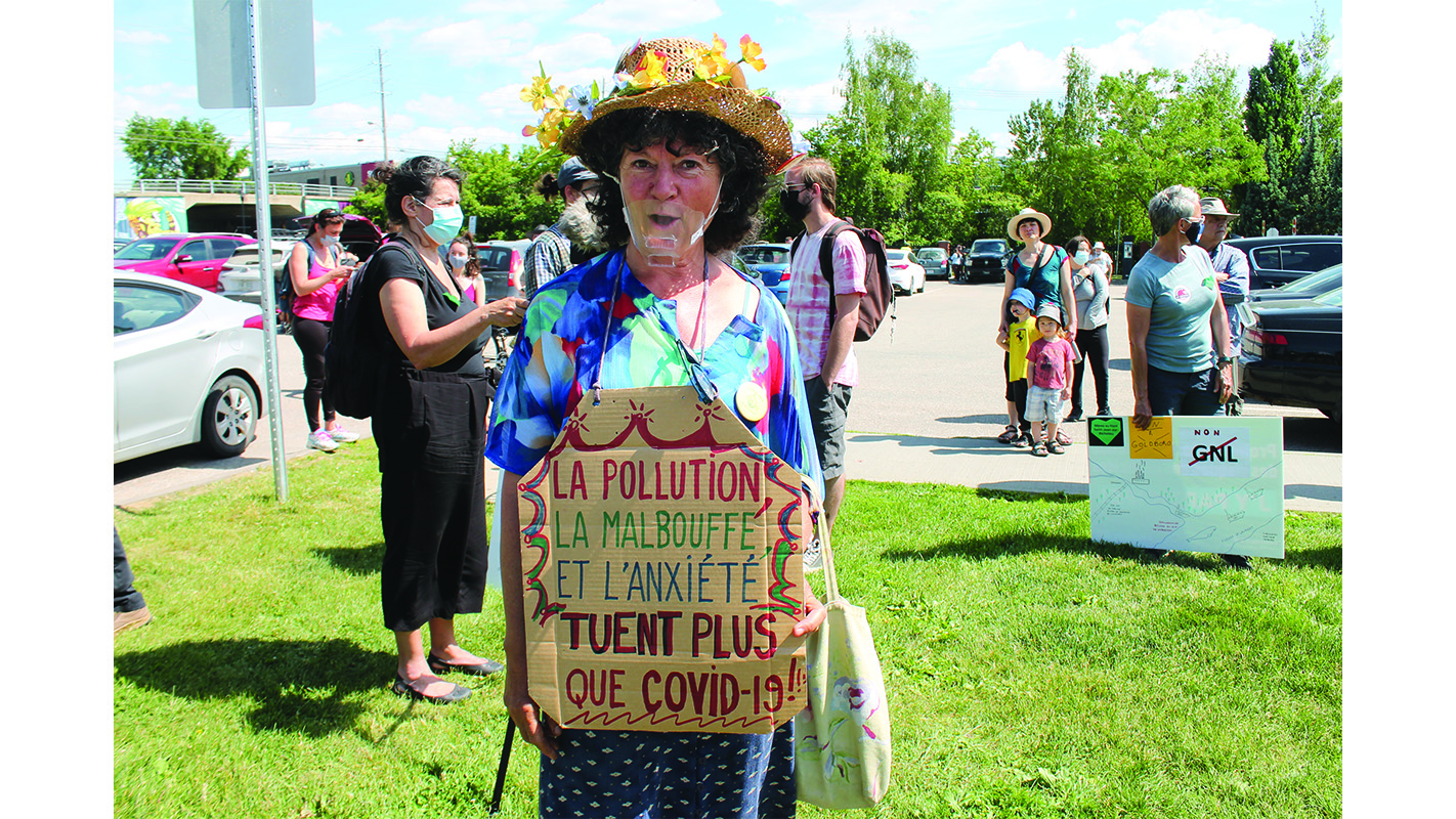 Pipeline protest in Sherbrooke
