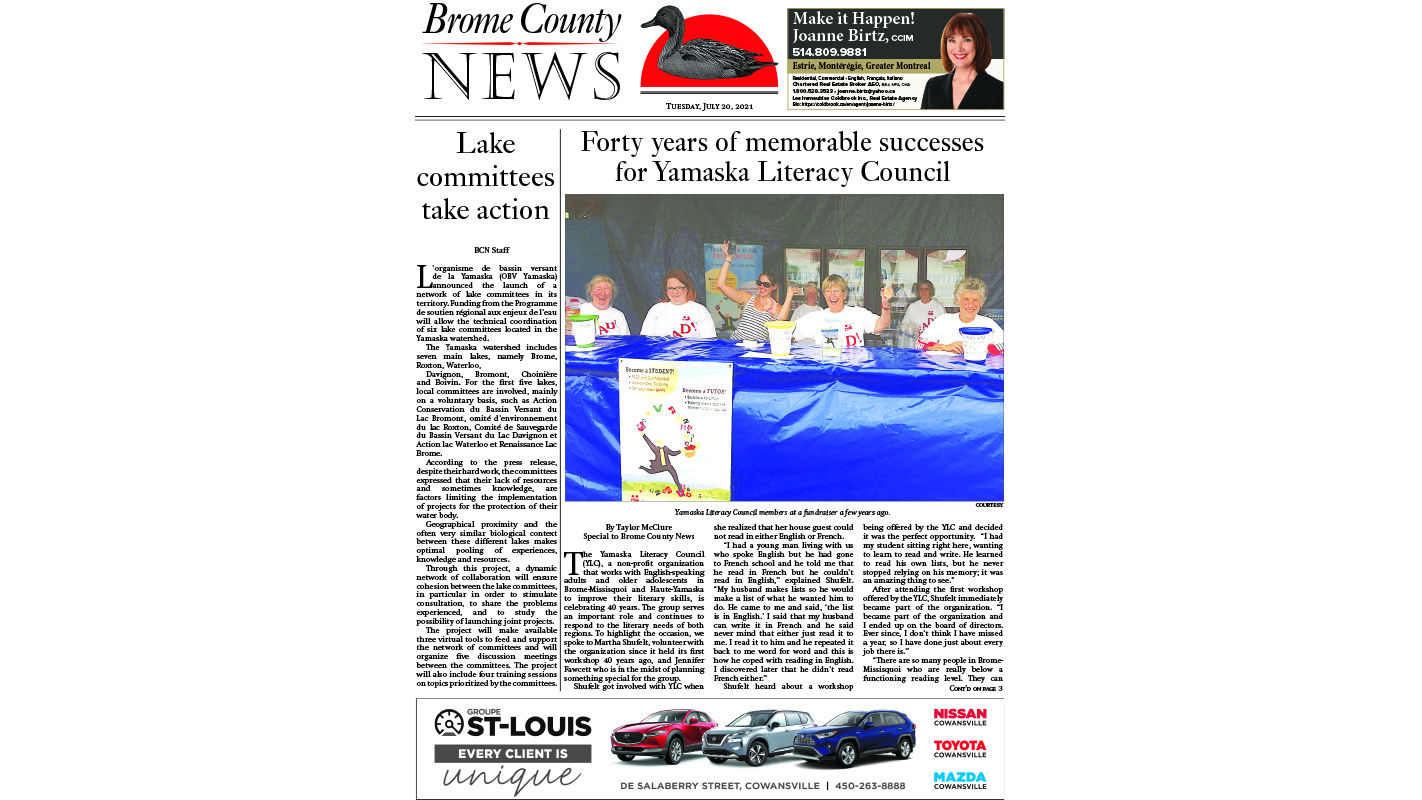 Read the entire July 20 edition of Brome County News online