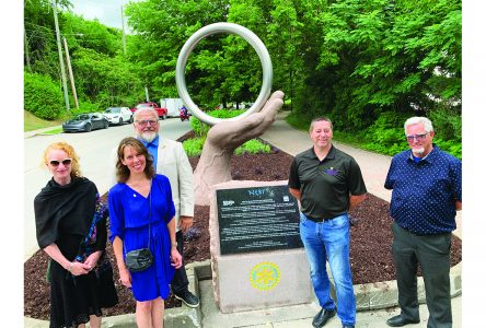 New sculpture celebrates 100 years  of the Sherbrooke Rotary Club