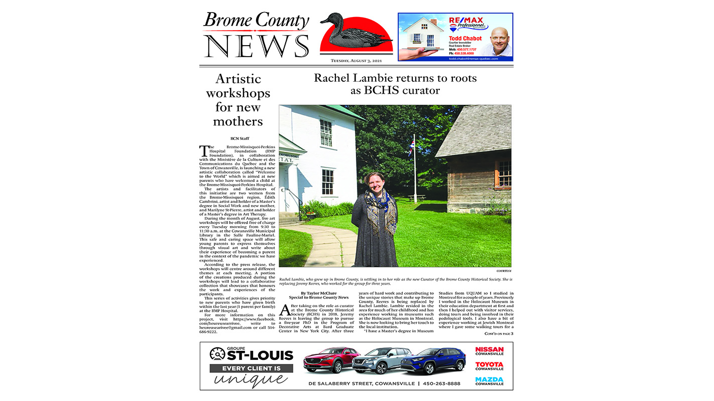 Read the entire Aug. 3 edition of Brome County News online