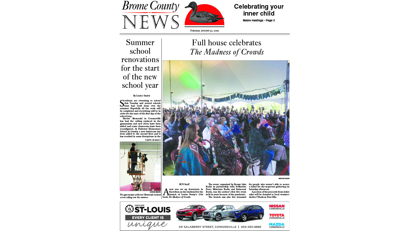 Brome County News – August 31, 2021 edition