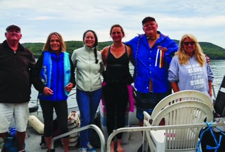 Massawippi power swim team dives in for charity