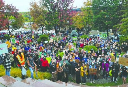 Sherbrooke climate strikers not put off by bad weather