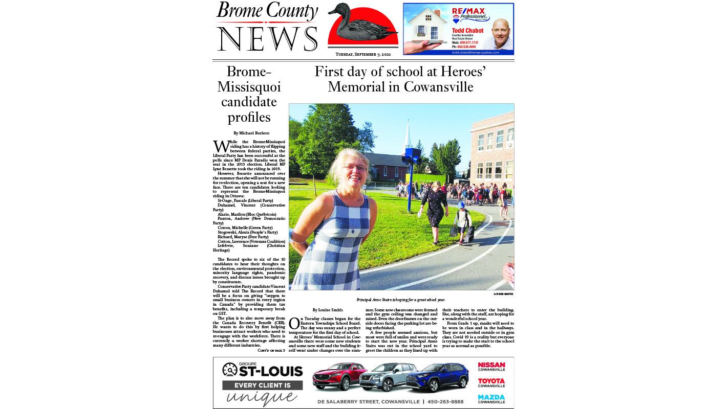 Brome County News – Sept. 7, 2021 edition