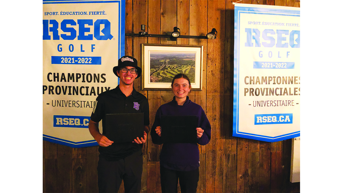 Bishop's golf season ends on a high note